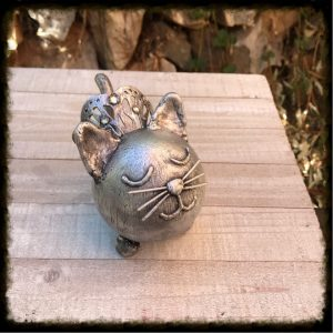 Silver Custom Kitty Urn