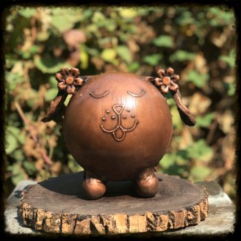 Flower Puppy Memorial Pet Urn