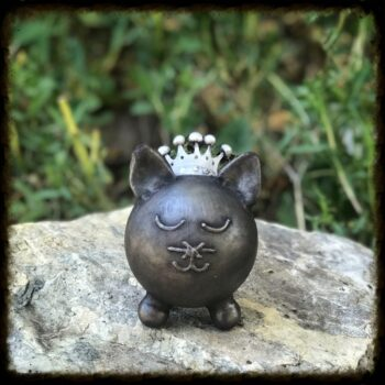 Custom Crown Cat Cremation Urn