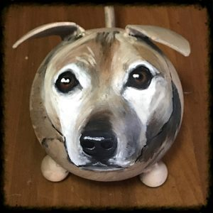 Painted Puppy Dog Urn