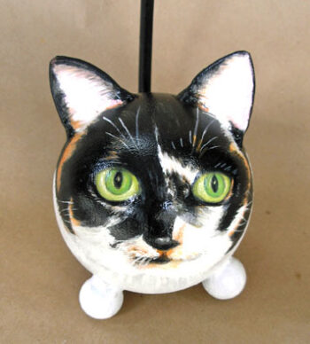 Painted Kitty Portrait Urn