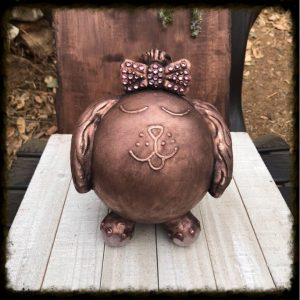 Dog Urn with Bow