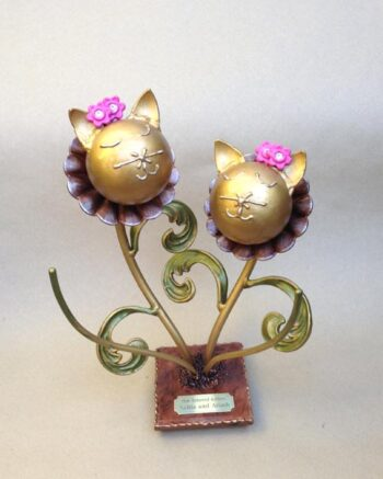 Flower Kitty Companion Urn